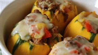 Sausage Stuffed Eight Ball Squash
