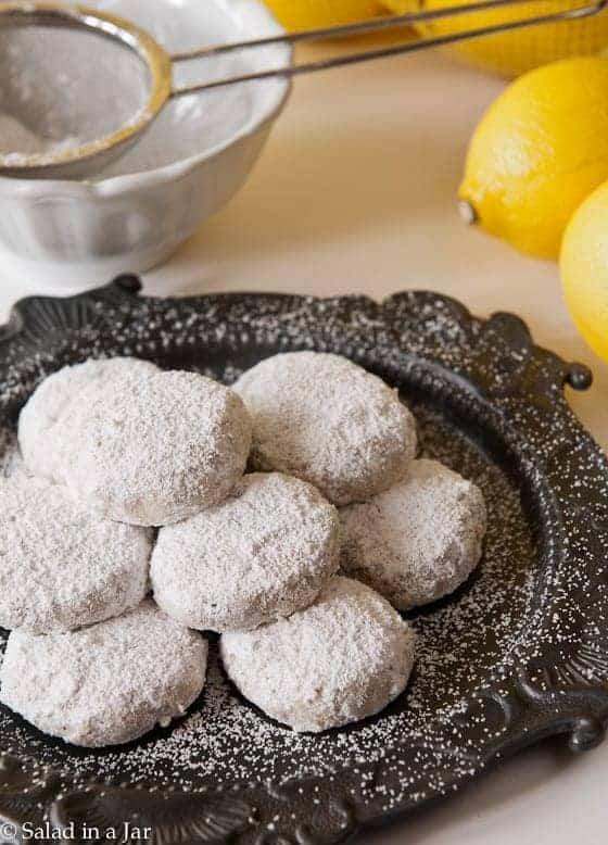 Powdered Sugar Lemon Cookies