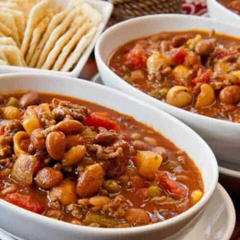 Spicy Hamburger Minestrone Soup