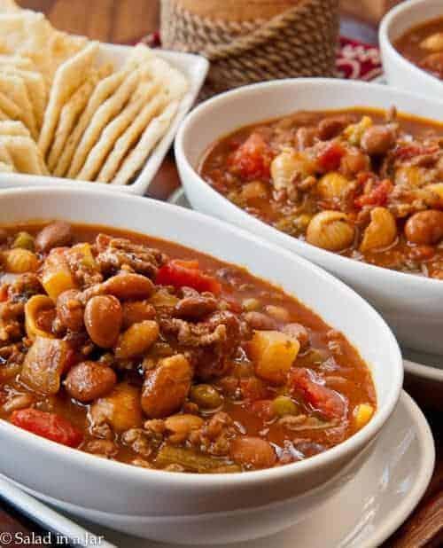 Spicy Hamburger Minestrone Soup Recipe