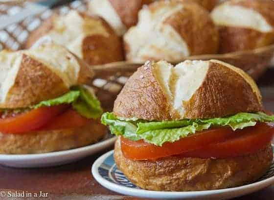 Bread Machine Pretzel Buns