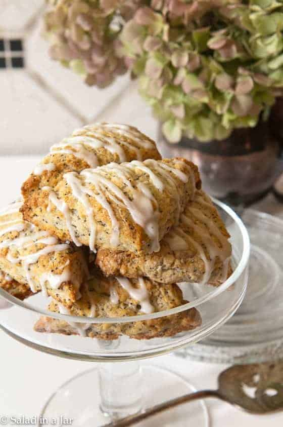 Lemon Poppy Seed Scones with Greek Yogurt