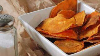 Skinny Baked Sweet Potato Chips