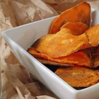 Skinny Baked Sweet Potato Chips