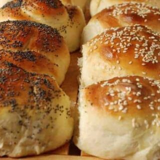 Seeded Snail Rolls (made with a Bread Machine)