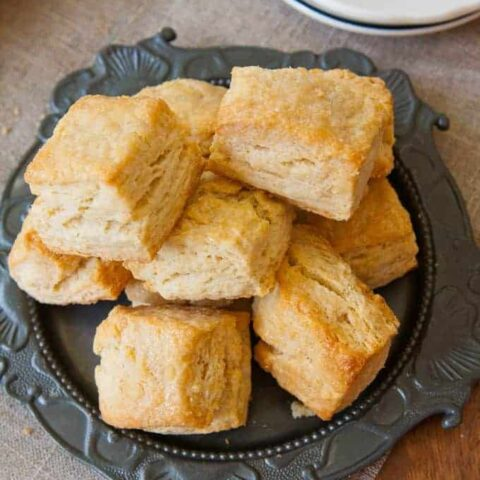 Glazed Flaky Biscuits Made with Whey (or Buttermilk)