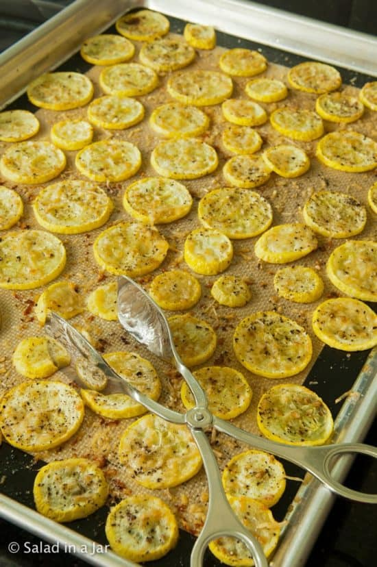 baked squash on cookie sheet