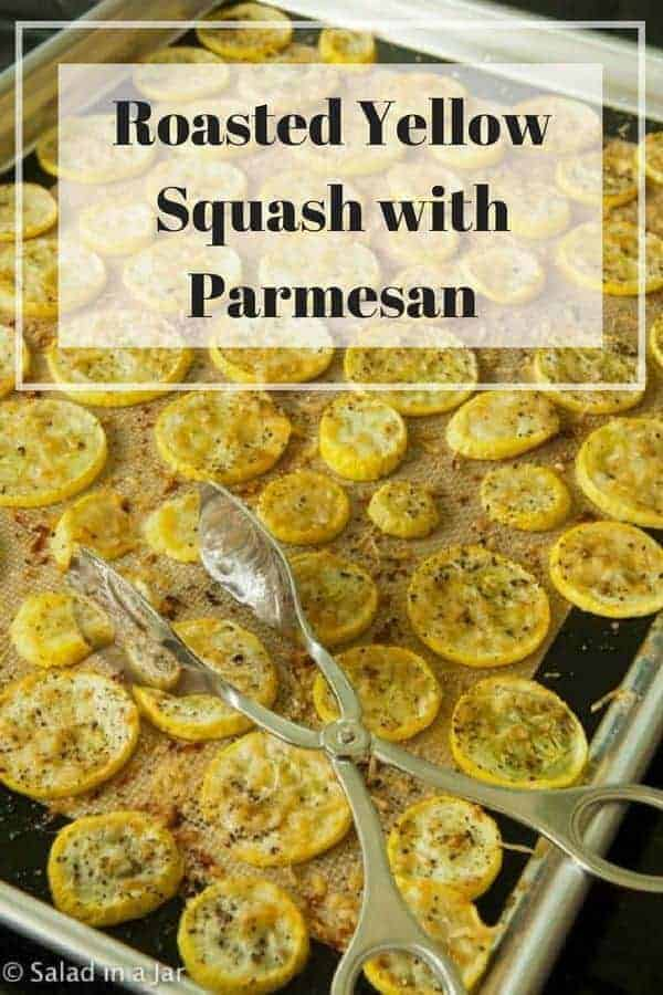 Roasted Yellow Squash with Parmesan