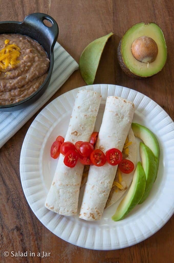 Instant Pot Refried Beans-inside burritos