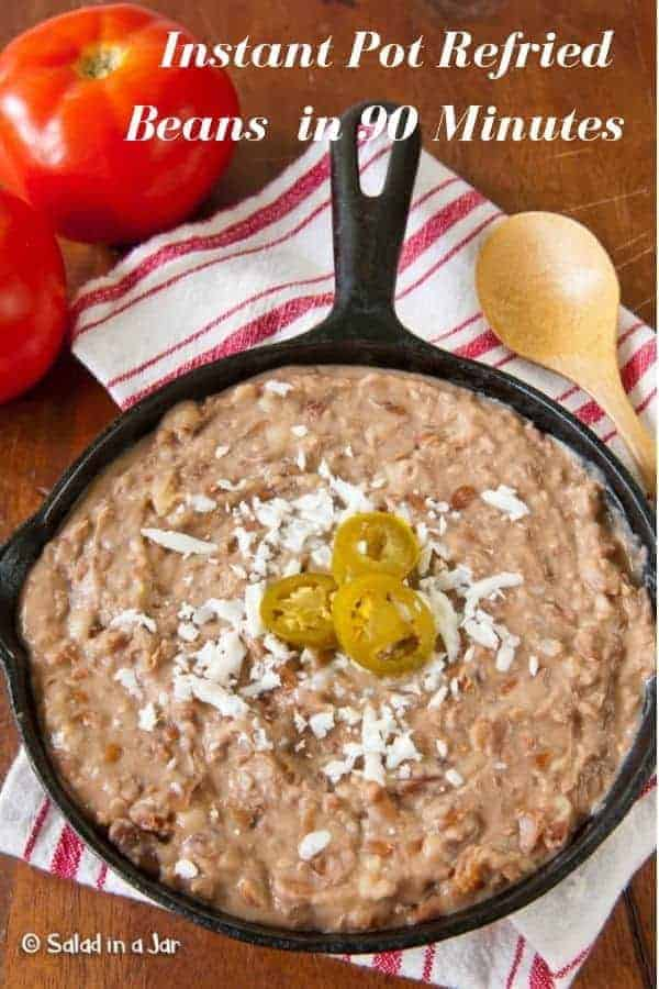 Make refried beans in less than 2 hours (no soaking required) using an Instant Pot.