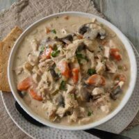 Rotisserie Chicken and Mushroom Chowder