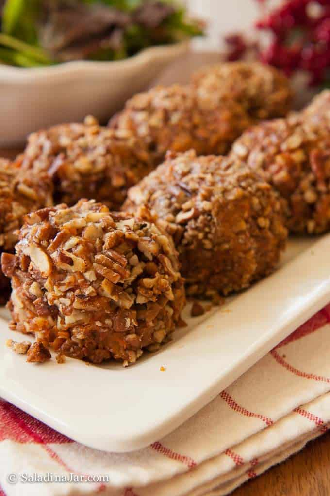 Pecan Crusted Sweet Potato Balls-ready to serve
