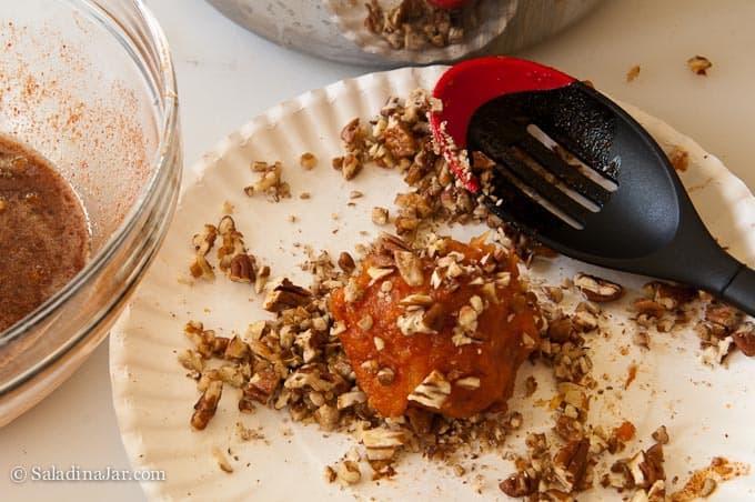 Pecan Crusted Sweet Potato Balls