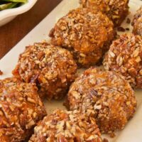 Spicy Pecan-Crusted Sweet Potato Balls