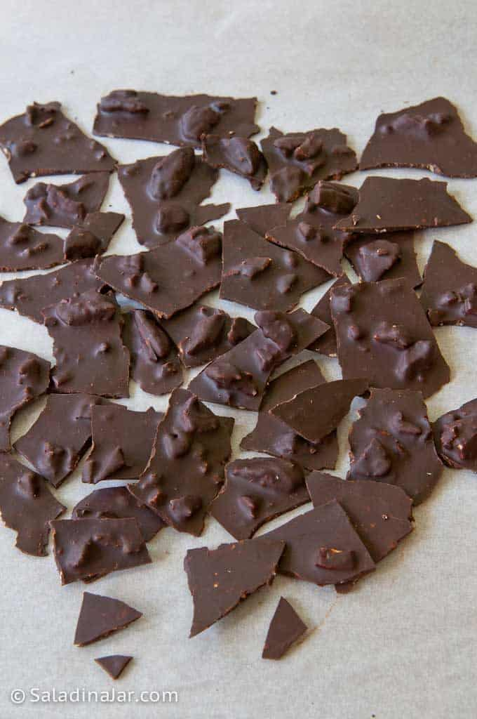 Broken Chocolate Pieces ready to eat