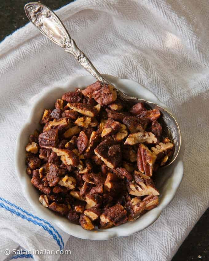Spicy Dark Chocolate-Pecan  Bark