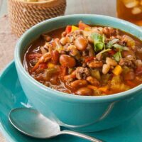Texas Black-Eyed Pea Soup--in a bowl