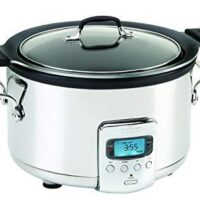 All-Clad SD712D51 4 Quart Deluxe Slow Cooker, Stainless Steel