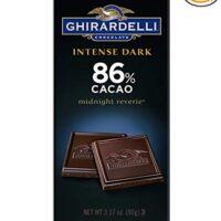 Ghirardelli Chocolate Intense Dark Bar, Midnight Reverie, 3.17 oz, 6 Count