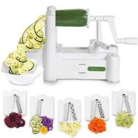 Spiralizer PS-10 5-Blade Vegetable Slicer, White