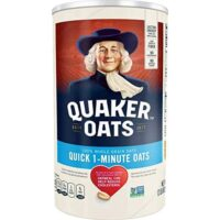Quaker Quick 1 Minute Oats, 100% Whole Grain, 42 oz