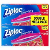 Ziploc Storage Bags, Gallon, Mega Pack, 150 ct (2 Pack, 75 ct)