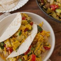 Make These Enticing Veggie Tacos with Squash and Potatoes--soft tacos with vegetarian filling