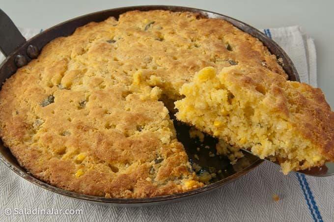 Sweet Jalapeño Cornbread--in a carbon steel fry pan