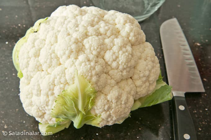 washed cauliflower