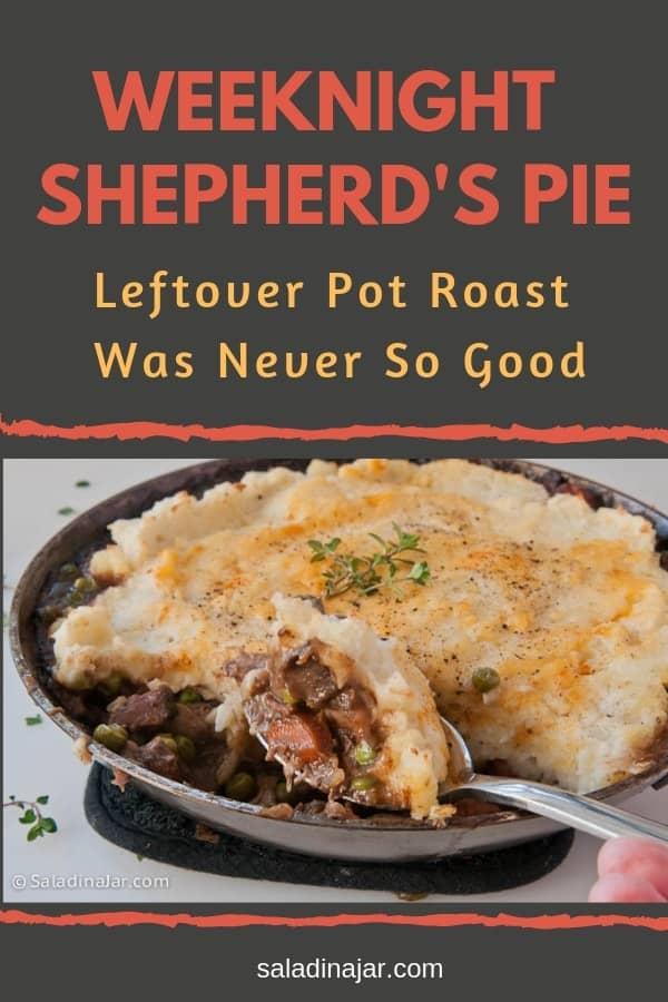 Shepherd's Pie baked in a skillet