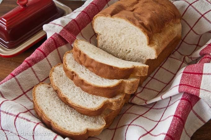 Sliced loaf of Sweet Milk Soft White Bread