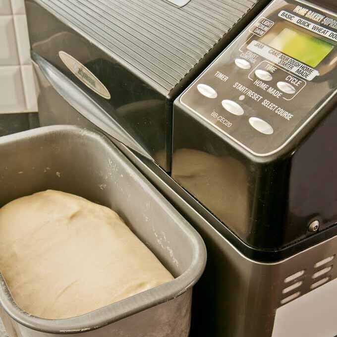 bread dough made in a bread machine