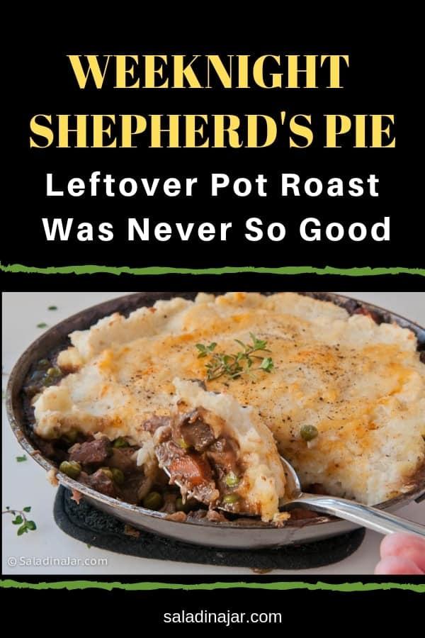 Weeknight Shepherd's pie baked in a skillet