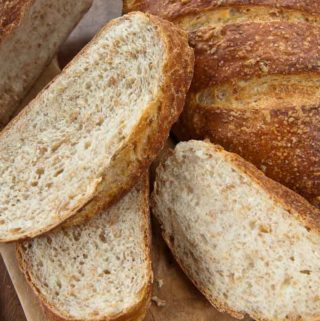 slices of Wheat Berry Bread