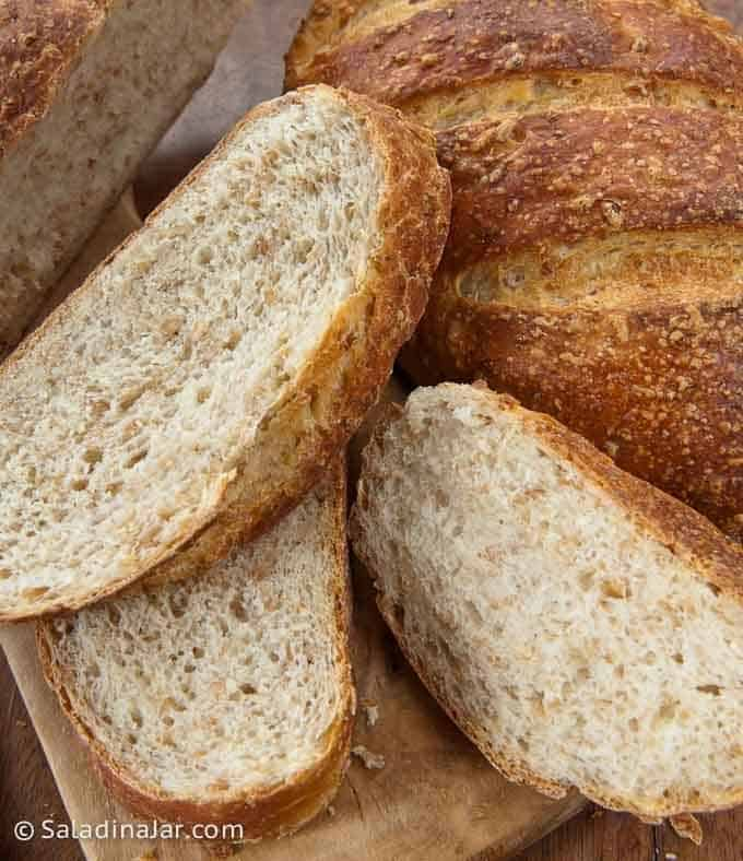 sliced Cracked Wheat Berry Bread