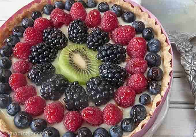 variation--a full-size fruit tart