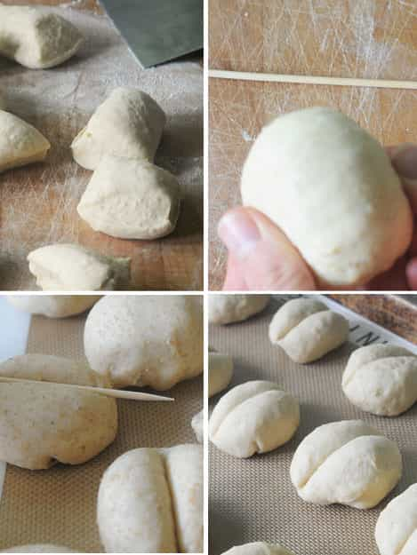 how to shape dinner rolls