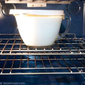 incubating yogurt in the oven