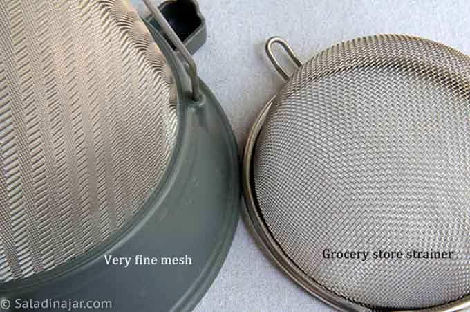 comparing mesh size in strainers