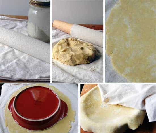 how to roll out pie dough--story board