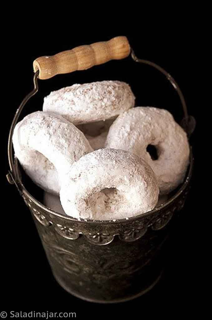 Baked Powdered Sugar Donuts --ready to eat