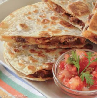 Brisket and Pepper Jack Quesadillas