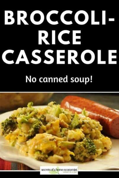 Pinterest image for -Broccoli-Rice Casserole
