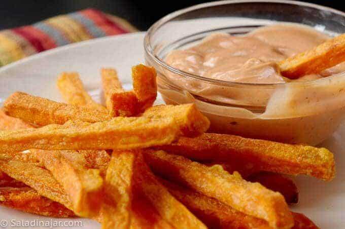 Cajun Dip with Sweet Potato Fries