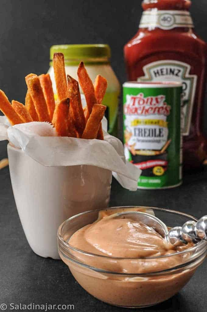 ingredients need for Cajun Dip include mayonnaise, catsup, and Creole seasoning