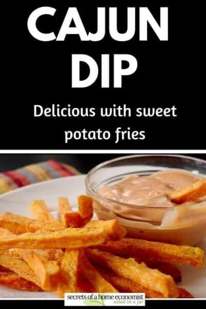 Pinterest Image of Cajun Dip