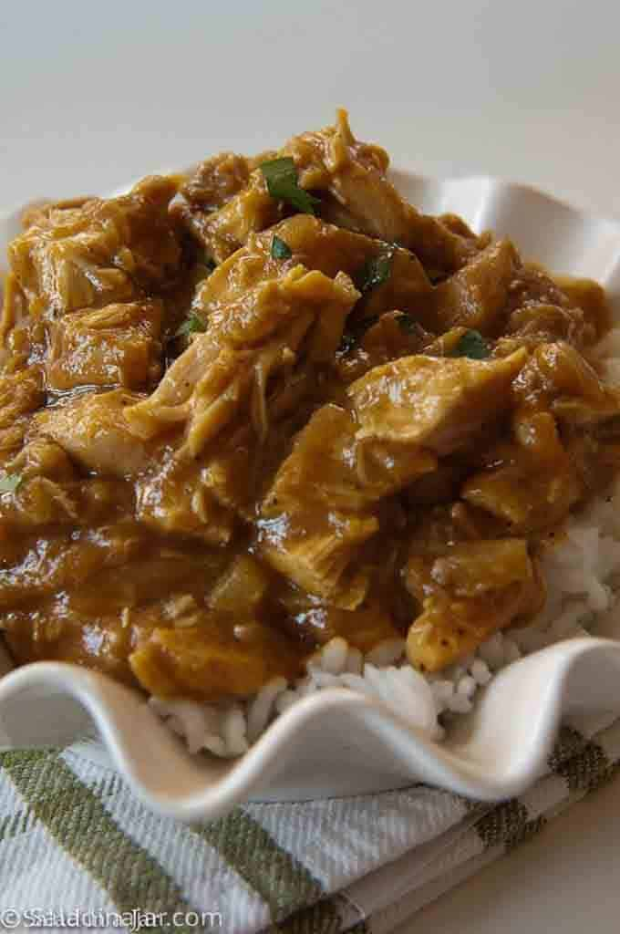 MILD CHICKEN CURRY - in a bowl