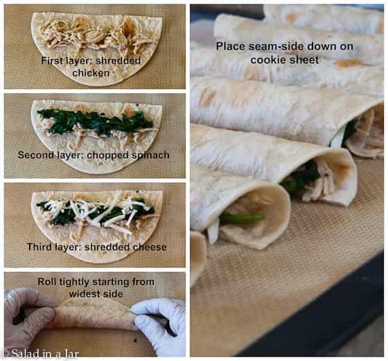 tutorial for assembling Crispy Egg and Sausage Breakfast Flautas