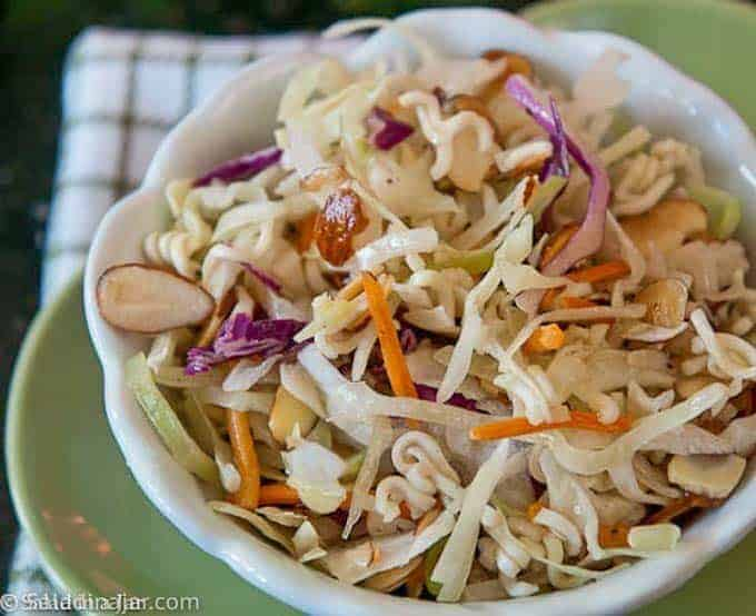 Crunchy coleslaw in a bowl