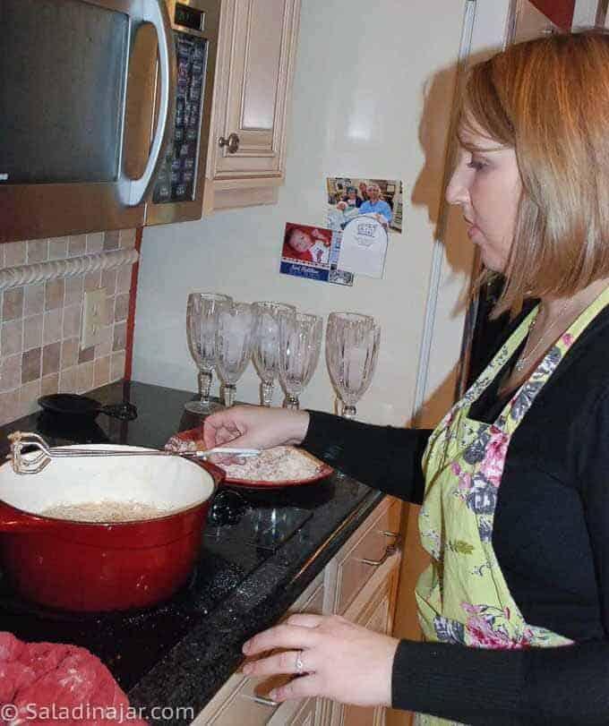 picture of family preparing this recipe